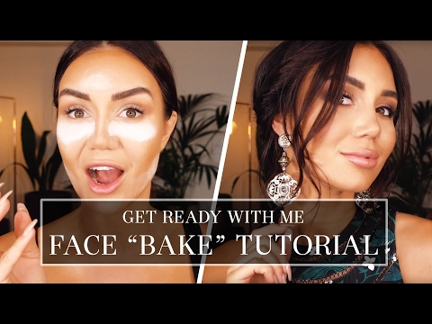 """GRWM - HOW TO """"BAKE"""" YOUR FACE TUTORIAL - SMOKEY EYE FULL GLAM LOOK 