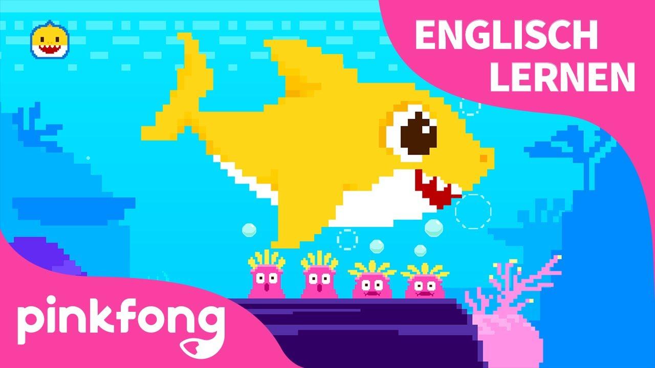 8-bit Baby-Hai   Englisch Lernen   Sing mit Baby Hai   Tierlieder   Baby Shark Deutsch   Pinkfong!