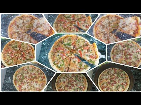 صورة  طريقة عمل البيتزا طريقة عمل البيتزا مثل المطاعم بطعم جناااان من اليوم مافيش بيتزا هت انا بيتزا هت وتحدى💪🍕😋😍 طريقة عمل البيتزا من يوتيوب