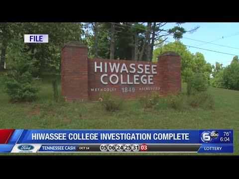Hiwassee College investigation complete