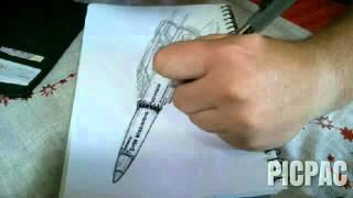 Drawing Thunderbird Three (40x speed)
