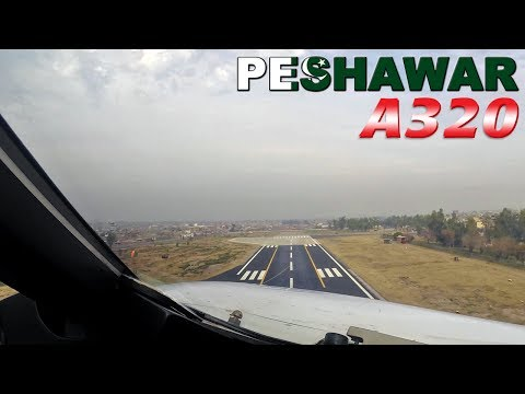 Airbus PILOTSVIEW on takeoff from Peshawar PAKISTAN