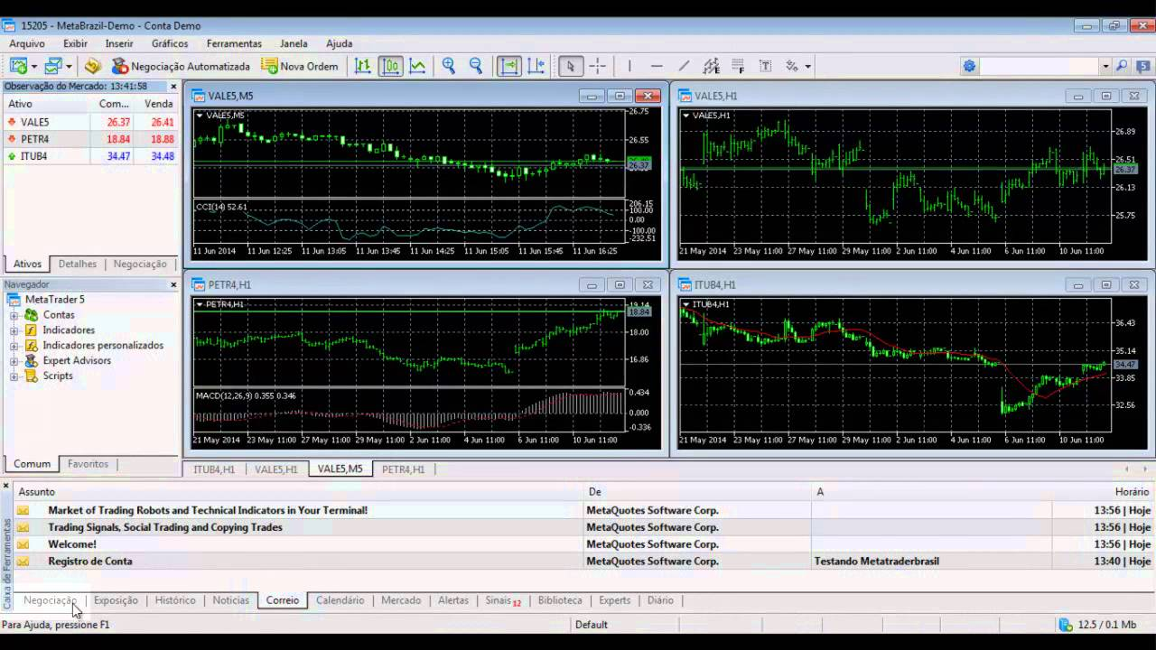 Tutorial Básico MetaTrader 5 - Simular Operações na Bovespa - YouTube