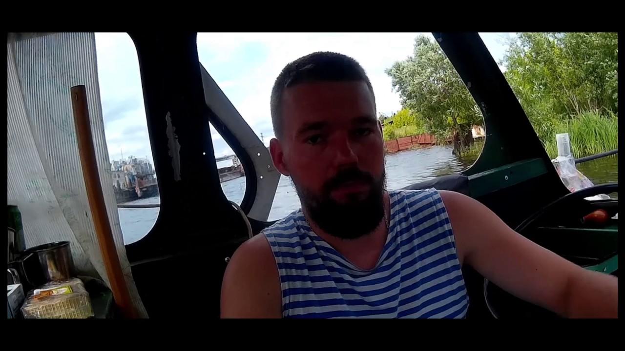 Катер с дизелем Д 37 - YouTube
