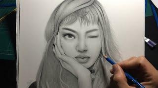 Blackpink ~ Lisa speed drawing || Kpop united