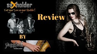 Review Jazzlab Saxholder - sax harness / shoulder support. Saxophone lesson/tutorial.
