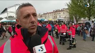 Deux-Sèvres : manifestation des pompiers à Niort