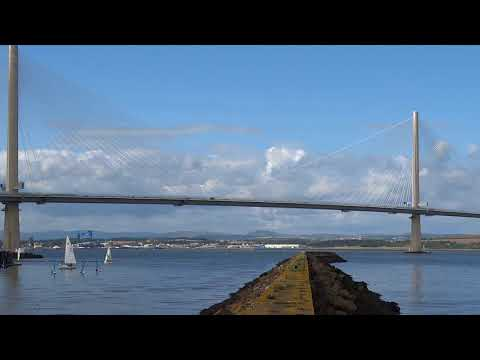 Queensferry Crossing From Port Edgar Scotland