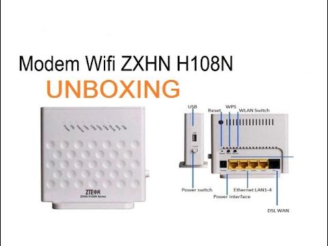 Zte Zxhn H108n V2 5 Unboxing 82 Router Wifi Youtube