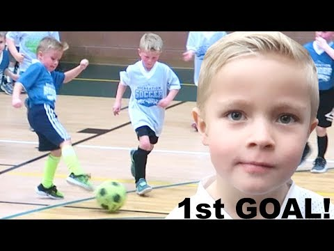 Kid Scores FIRST GOAL at Soccer Game ⚽️