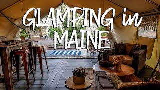 Going Glamping in Maine - Trip Report - Sandy Pines portland maine