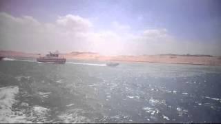 أول فيديو للأمواج المتلاطمة فى قناة السويس الجديدة