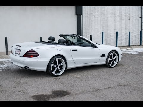 Custom pearl white mercedes sl500 zr auto youtube for Custom mercedes benz for sale