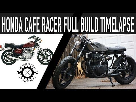 CAFE RACER BUILD, HONDA 400 FULL BUILD TIME LAPSE