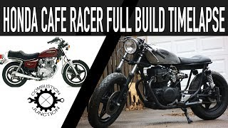 CAFE RACER BUILD, HONDA 400 FULL BUILD TIME LAPSE
