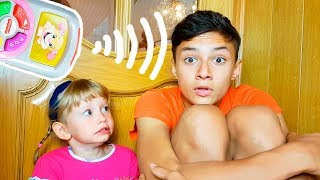 Alena and Pasha pretend play with magical remote control Kid`s Fun adventure by Chiko TV