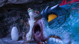 Buck vs Dinosaurs Fight Scene - ICE AGE 5 (2016) Movie Clip