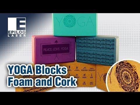 Yoga Block Engraving - Foam and Cork Yoga Blocks