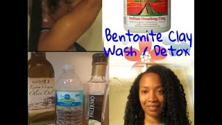 Bentonite clay wash along with water only rinse - Long natural hair