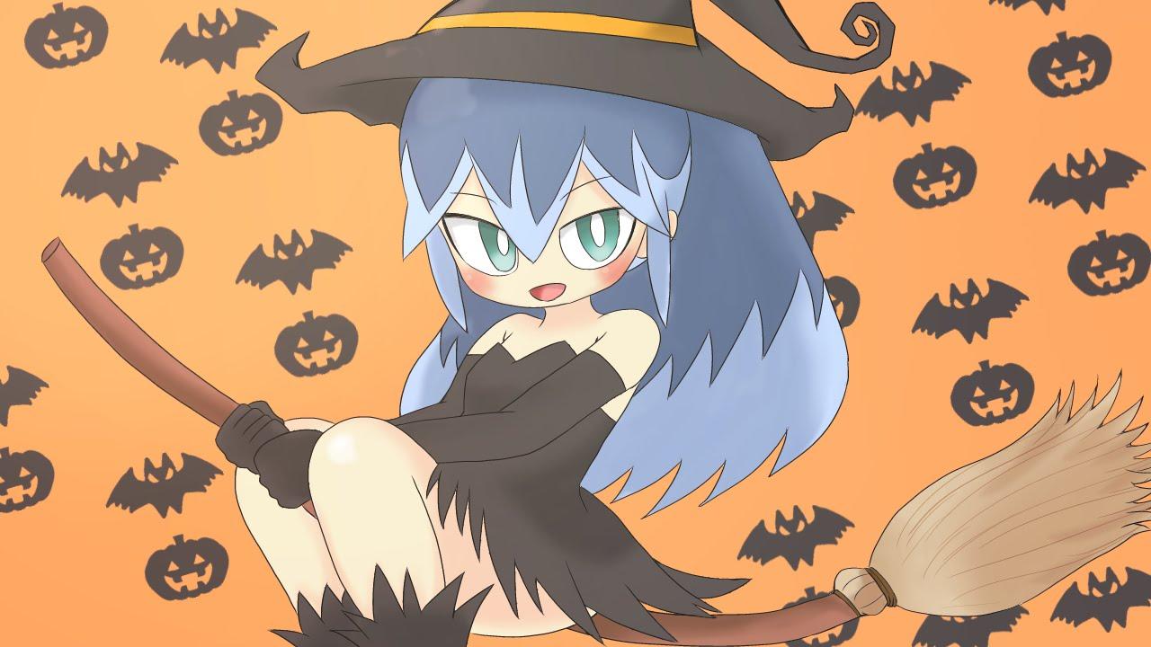 妖怪ウォッチふぶき姫に魔女のコスプレさせてみたハロウィン