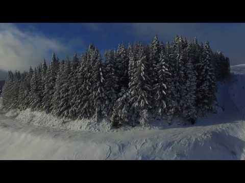 Plateau De L'Aubrac et ses couleurs hivernales, vus par un drone