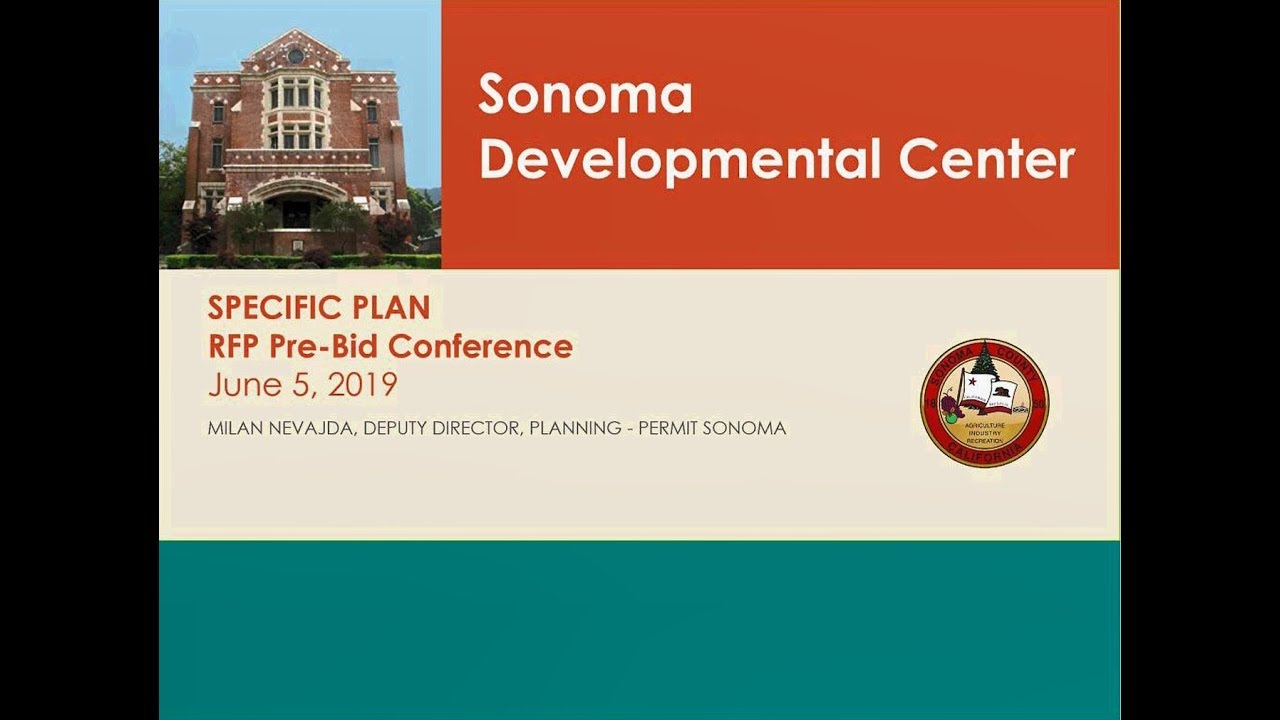 Request for Proposals: Sonoma Developmental Center Site
