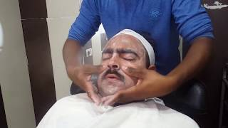 Face Scrub Massage with Steam and Facial... No Talking Asmr