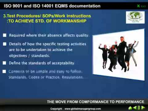 Work Instruction For ISO 9001 And 14001 Documentation