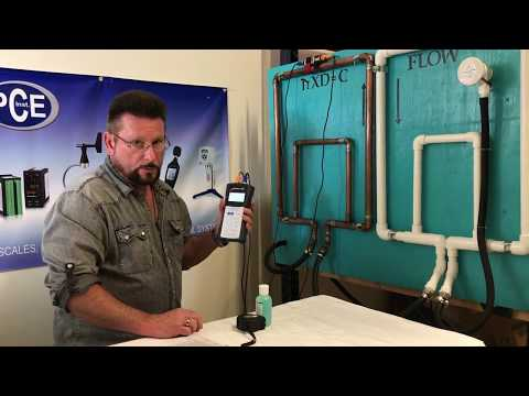 Set Up And Use Of The PCE-TDS 100HS Ultrasonic Flow Meter