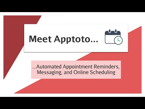 Meet Apptoto   Automated Appointment Reminders, Messaging and Online Scheduling
