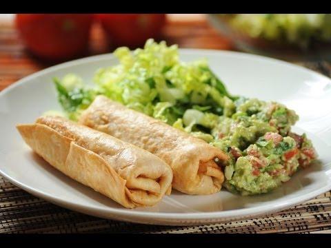 ... pollo - Chicken chimichanga - Recetas de cocina mexicana - ViYoutube