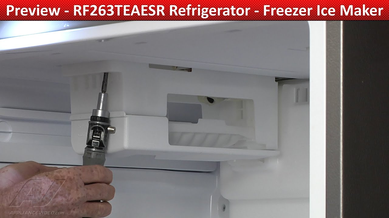 Freezer Ice Maker Rf263teaesr Samsung Refrigerator Youtube