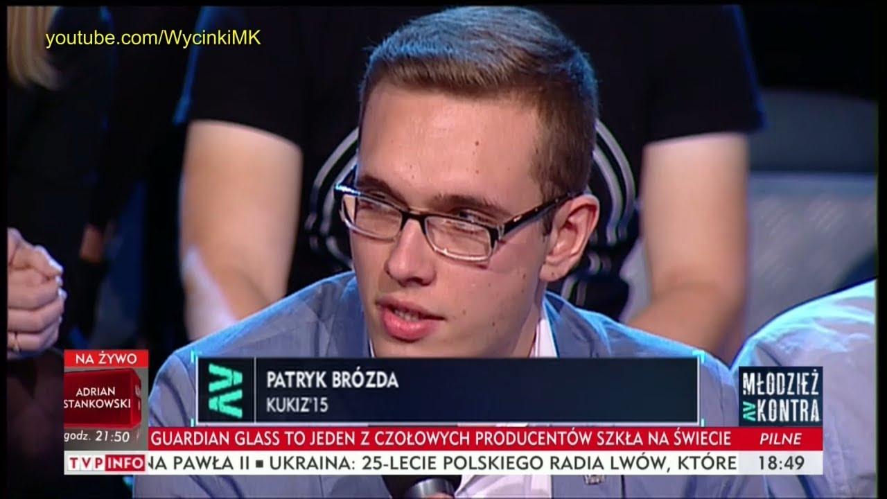 Młodzież kontra 613: Patryk Brózda (Kukiz'15) vs prof. Andrzej Zybertowicz 14.10.2017