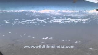 Sikkim-Bhutan Himalaya seen aerially!