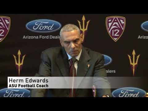 Herm Edwards may be the Sun Devils coach, but he doesn't like devils