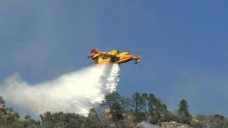 Incendie en Corse: la tempête Hervé complique la tâche des pompiers (2) | AFP