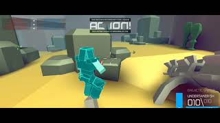 playing zombs royale and polyguns in roblox