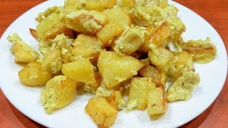 How to make Potatoes With Eggs (5 ingredients)