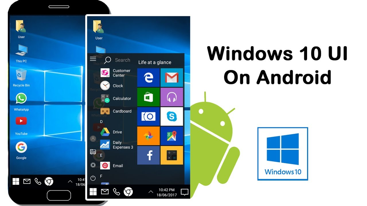 How to launch windows 10 UI on Android phone using Computer Launcher App