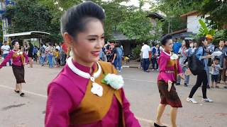 Beauties, the beasties and the band. Morlam dancers in Loei, Ghost Mask Parade 2018