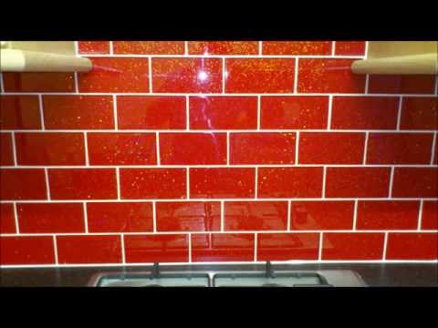 VIDEO RED GLASS TILES