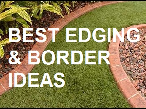 Garden Bed Edging Ideas Youtube