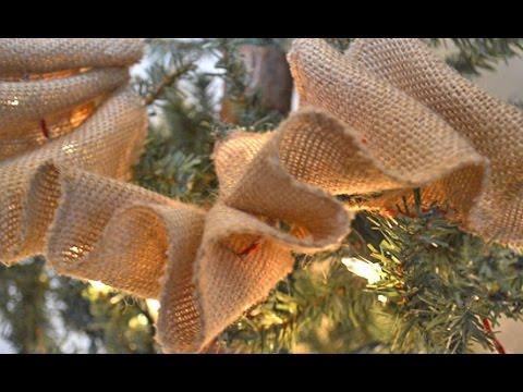 diy rustic ruffled burlap garland - Burlap Christmas Garland