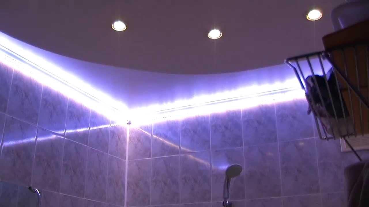 Red bathroom light - Led Light In Bathroom