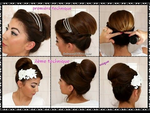 tuto coiffure chignon mariage chic et facile en 2. Black Bedroom Furniture Sets. Home Design Ideas