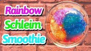 Schleim Smoothie deutsch - RAINBOW CLEAR SLIME EDITION 🍭