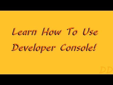 Scripts In Description Learn How To Use Developer Console