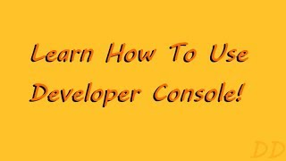 [Scripts In Description] Learn How To Use Developer Console! - ROBLOX
