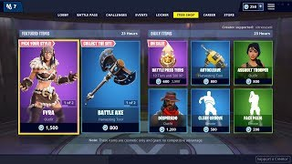 *NEW* FYRA & JAEGER SKIN - January 18th Fortnite Daily Item Shop LIVE