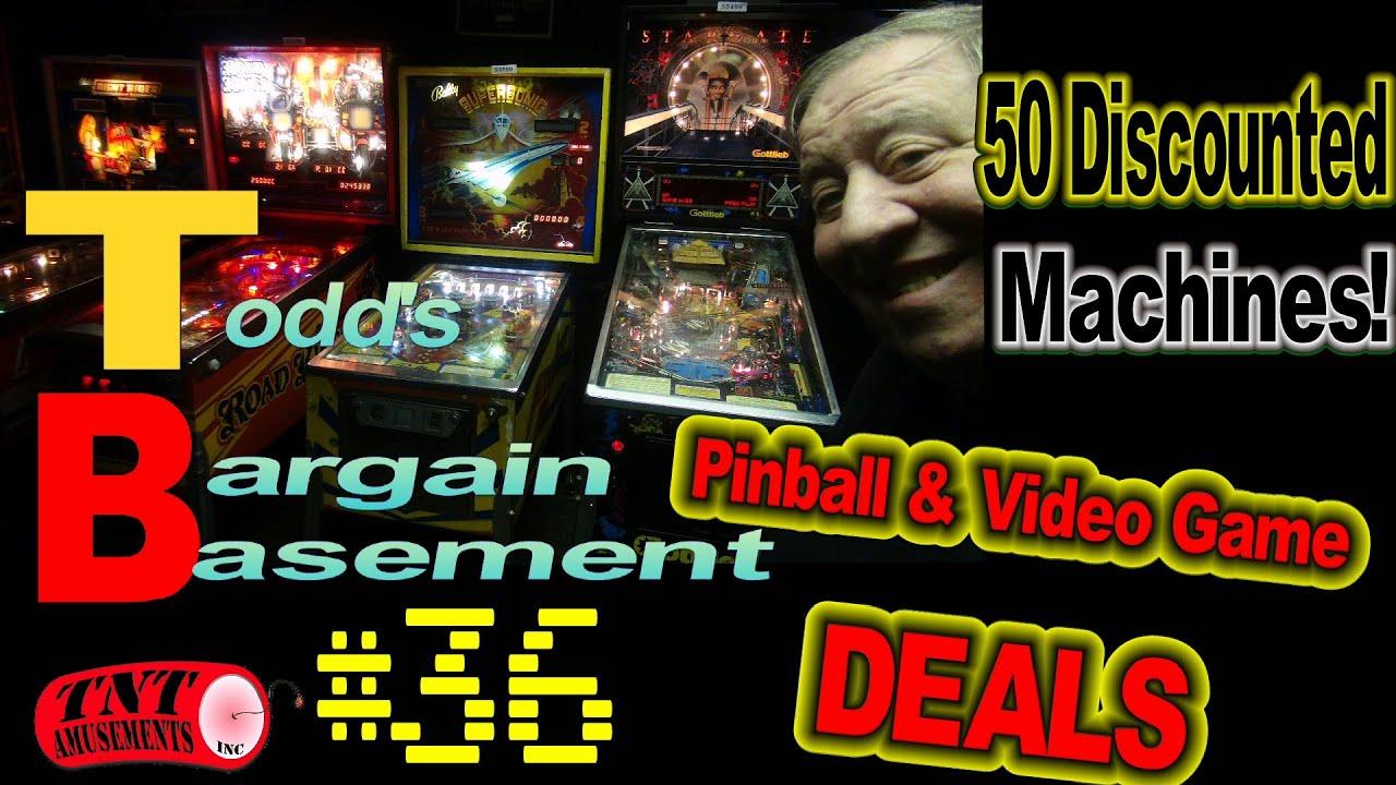 Download #1671 BARGAIN BASEMENT #36  Fifty Arcade Video Games & Pinball Machines Discounted - TNT Amusements